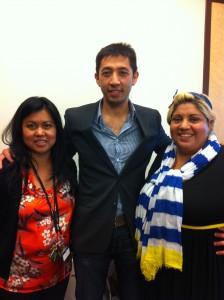 Supervisor Eileen Labrador, Scholarship Winner Luan Pham and LIBROS President Ady Huertas