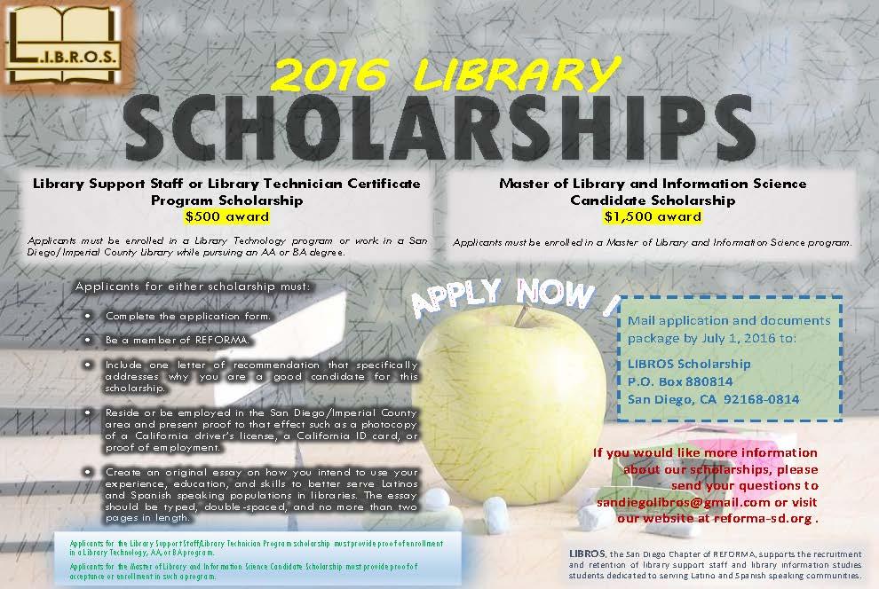 LIBROS Scholarships 2016 Flyer